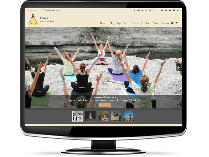 tYoga - Premium Yoga WordPress Theme