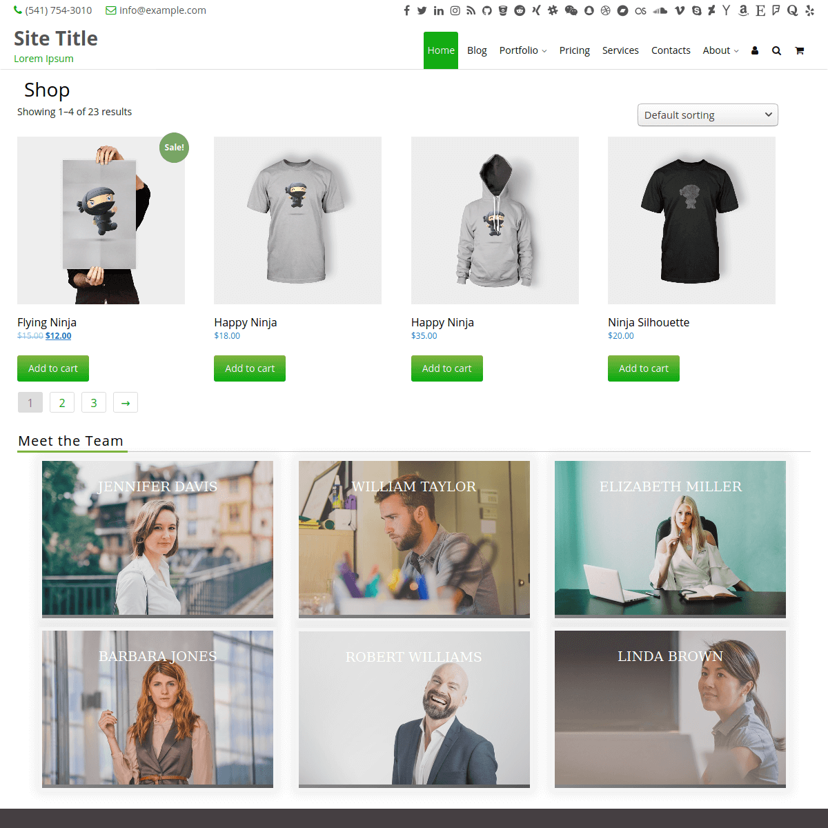 woocommerce shop home page